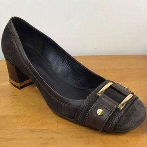 Tory Burch 🌸Brown Suede Block Heel Loafers 9.5